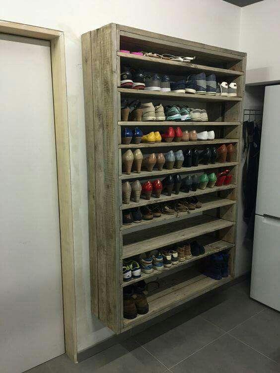 Mejores 29 im genes de ideas varias para organizar hogar for Guarda zapatos en madera