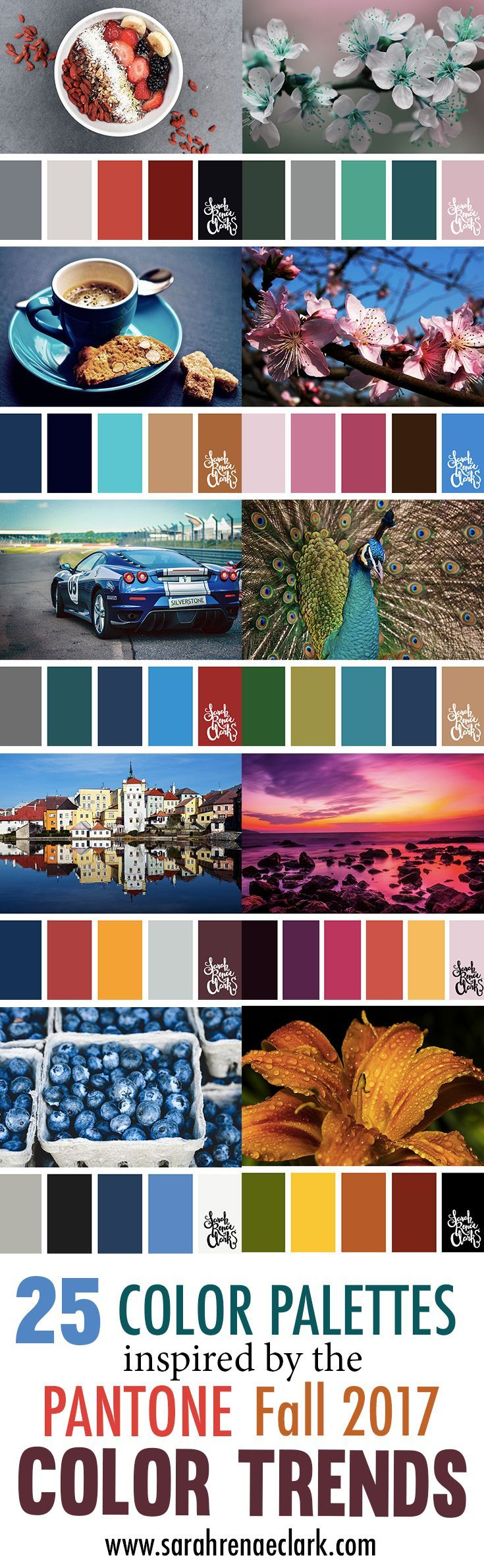 25 Color Palettes Inspired by the Pantone Fall 201…