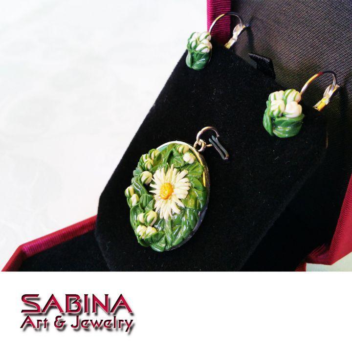 Crizanteme de toamna -bijuterie modelata