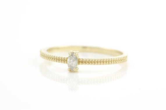 Marquise Diamond Ring Diamond Gold Ring Engagement Ring
