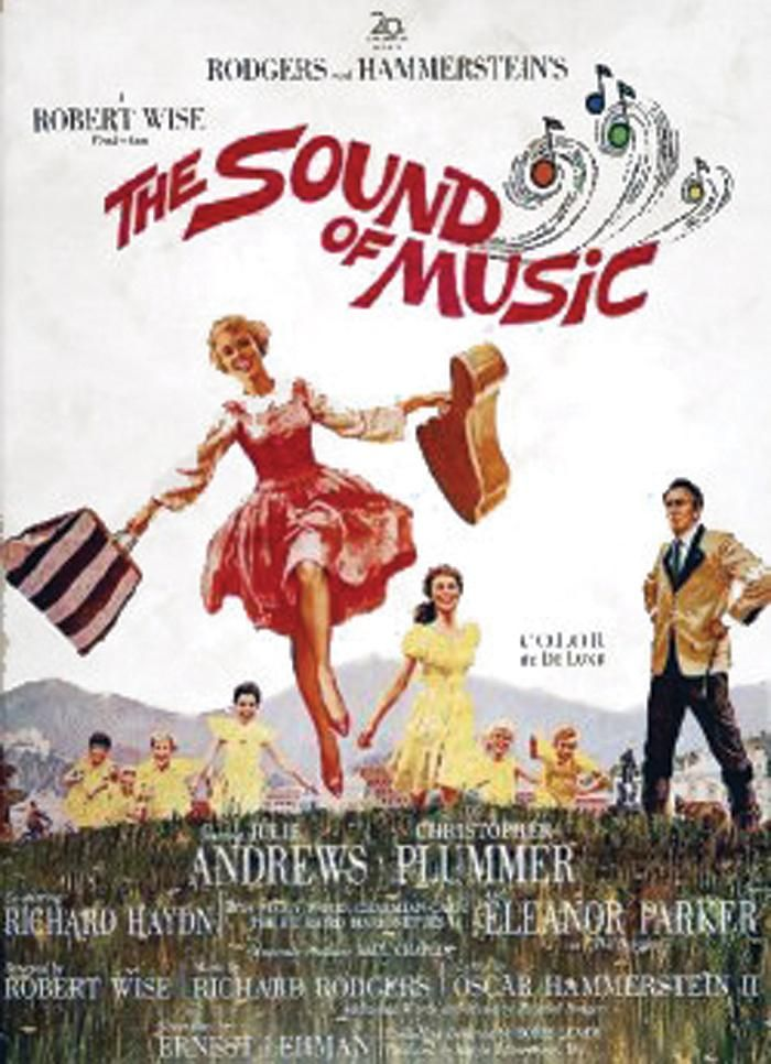 The Sound of Music- A woman leaves an Austrian convent to become a governess to the children of a Naval officer widower.