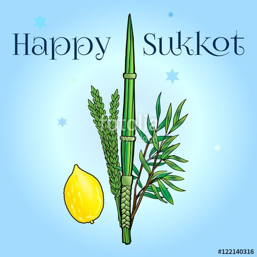 "Download the royalty-free photo ""Happy Sukkot card. Jewish traditional four species for Jewish Sukkot festival. Vector illustration."" created by sofiartmedia at the lowest price on Fotolia.com. Browse our cheap image bank online to find the perfect stock photo for your marketing projects!"