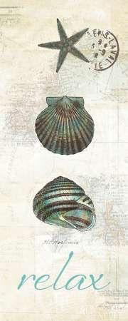 CUADROSTOCK.COM Cuadros Marinas y Costa - Touch of Blue Shells I  Pertiet, Katie