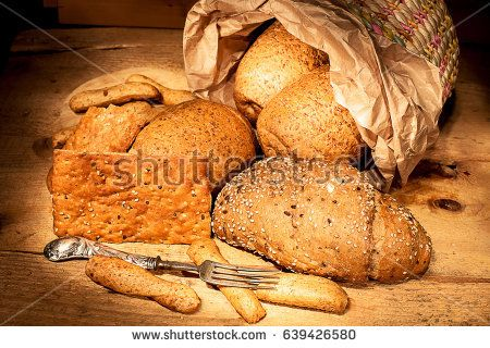 cereal bread, crackers and stick