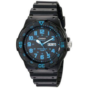 Casio Unisex Neo-Display Black Watch with Resin Band