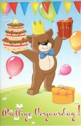 Prettige verjaardag!  Schattige verjaardagskaart voor kinderen