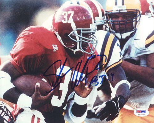 Shaun Alexander Autographed 8x10 Photo Alabama PSA/DNA #Q97463