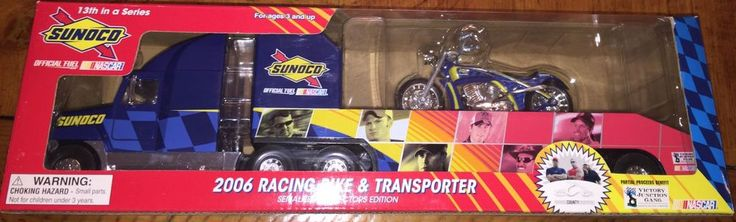 Sunoco 2006 Racing Bike & Transporter 13th in a Series Official Fuel of Nascar #Sunoco