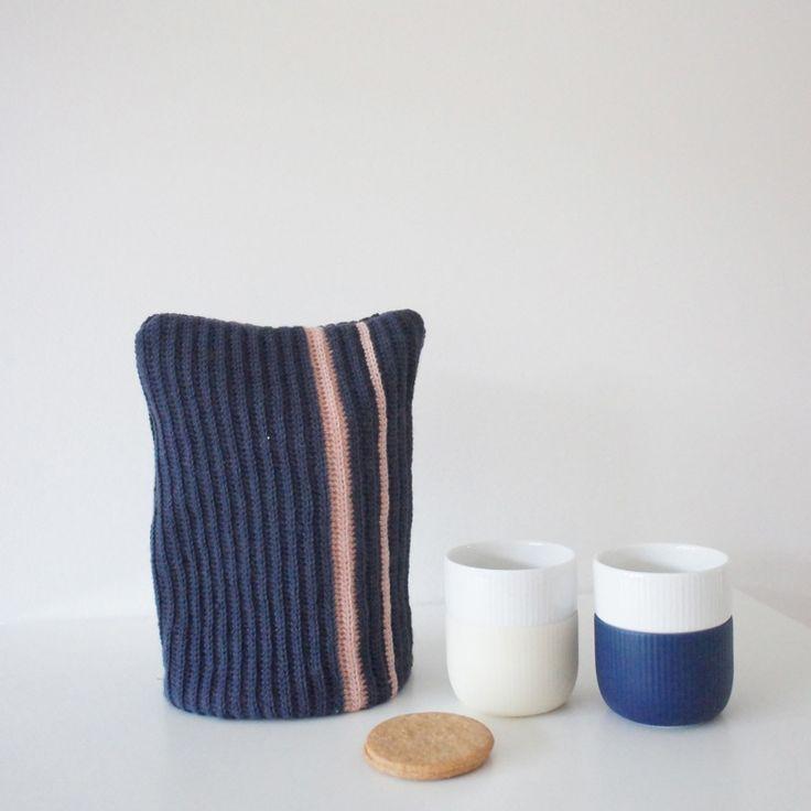 Hæklet tehætte eller kaffehætte :) Crochet - Homemade - DIY