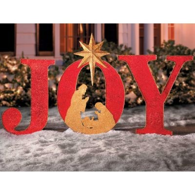 Joy Sign Outdoor Christmas Decoration Outdoor Christmas