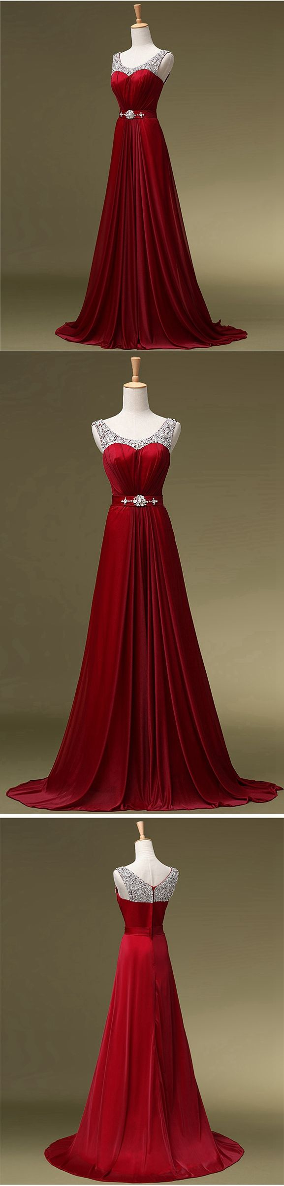 Burgundy Prom Dress, Prom Dresses,Graduation Party Dresses, Prom Dresses For Teens on Storenvy