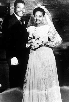 One of the most famous couples in African history, the pair were married in February of 1958. Contrary to popular belief, Winnie was not Nelson Mandela's first wife, nor would she be his las