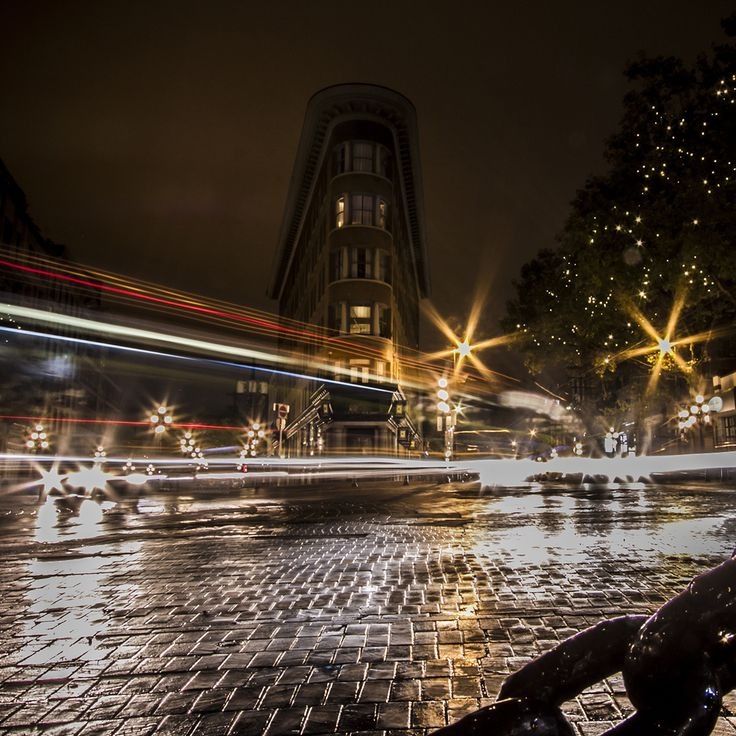 Vancouver // Long exposure of the Gastown Flatiron Building // Image by Ray Urner // www.rayurner.com
