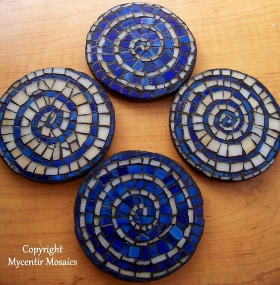 Love these mosaic coasters from Mycentir Mosaics!: