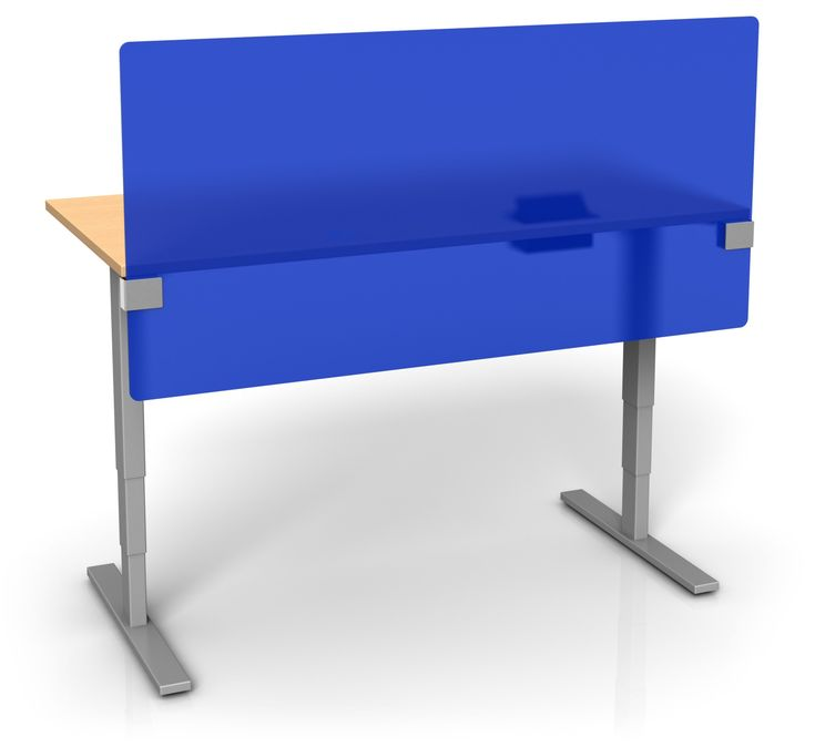 UPTOWN PANEL - COLORED FROSTED ACRYLIC HEIGHT ADJUSTABLE DESK DIVIDER