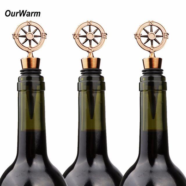 wine /champagne cork for bottles wedding favor gift travel themed wedding compass/ Flaschenkorken Kompass Reisen Hochzeit giveaway Geschenk Gästegeschenk