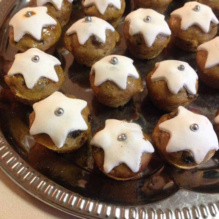 Mini Fruit Cake Muffins