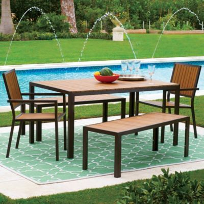 Lovely Faux Wood/Aluminum Outdoor Furniture From Improvements Part 19