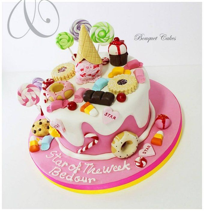Sweet candy cake - by BouquetCakes @ CakesDecor.com - cake decorating website