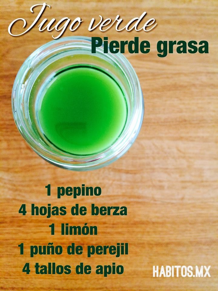 Jugo Verde -Pierde Grasa-