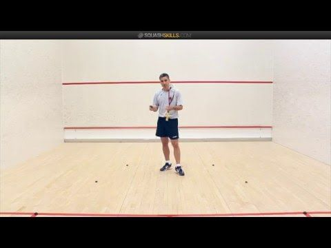 Squash: Thierry Lincou's cross court drill - YouTube