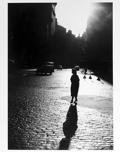 Woman's silhouette and shadow, 1950s© Jay Maisel