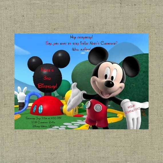 Mickey Mouse Clubhouse Themed Custom Printable