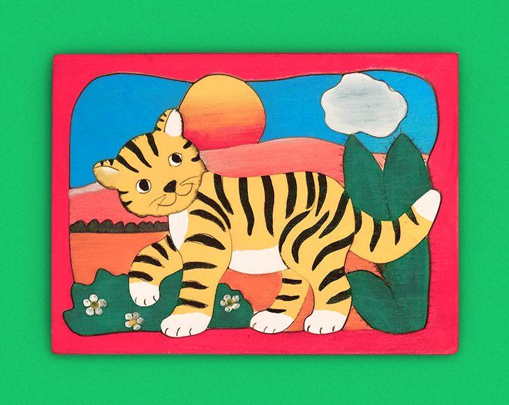 Handgefertigtes Holz-Puzzle mit wunderschönem Motiv für Kinder. Perfekte Geschnksidee für Kinder