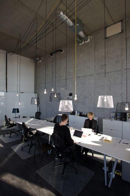 Iluminación de oficinas. Amsterdam IJburg: the temporary Solids office