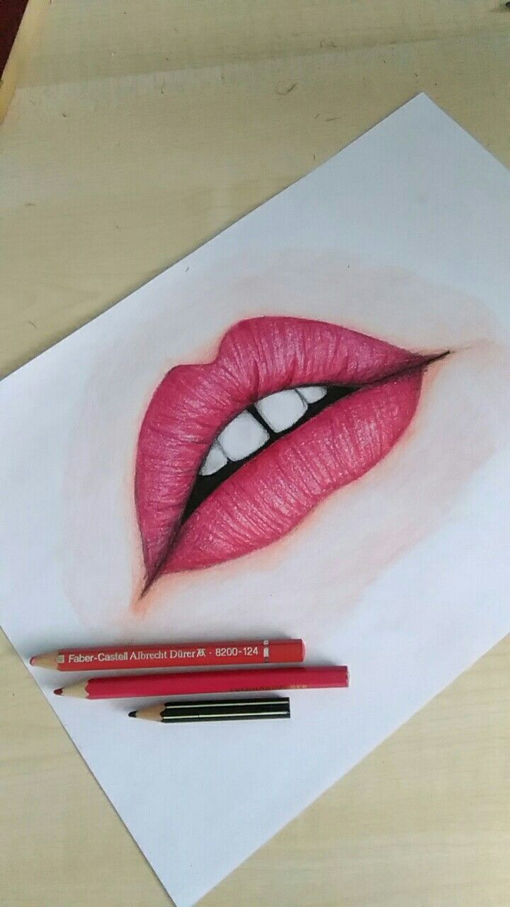 How to draw mouth😊💜💋