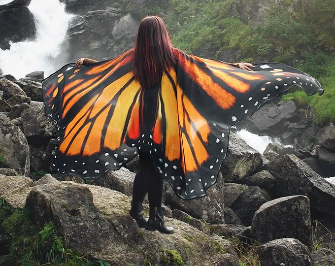 Moth Wings Costume Butterfly Cape Fairy Wings Festival Clothing Burning Man Moth Costume Schmetterlingsflugel Kostum Schmetterlingskostum Schmetterling
