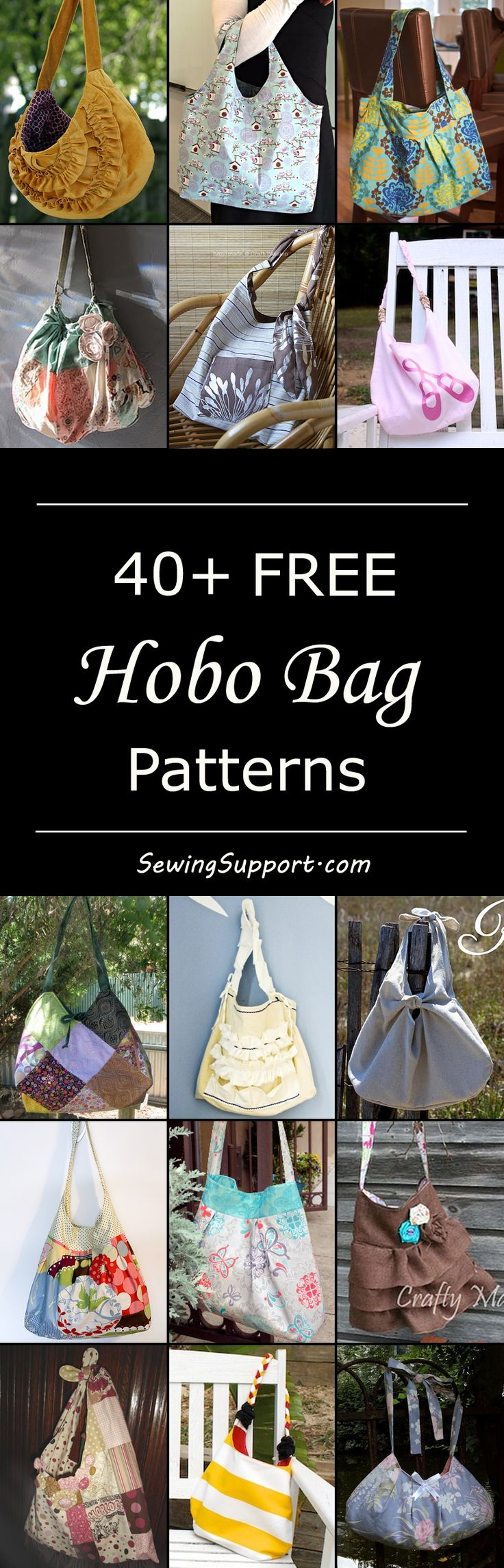 Lots of free hobo bag patterns, tutorials, and diy projects. Crossbody, slouchy, and sling bags, large and small. How to make a hobo bag.