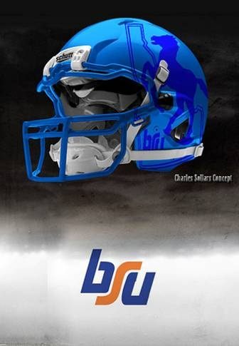 That's crazy cool!  Take care of those concept helmets with Stuffitts drying inserts!  Boise State University Broncos  - concept football helmet