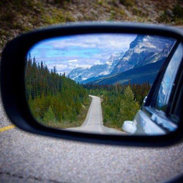 In your RV, looking back is just as exciting as looking forward!