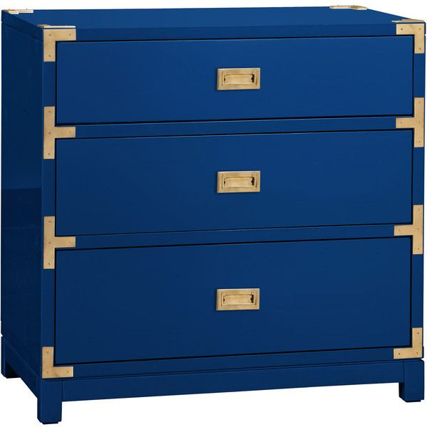 Bungalow 5 Victoria 3 Drawer Blue Side Table $1 568