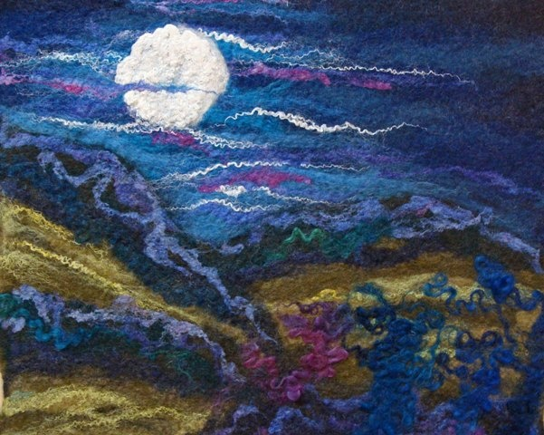 Cathy Needham Moon rising over the Wolds