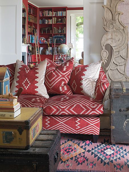 Andrew Martin.... fabric, wallpaper, furniture. Everything I love for the home from one source!