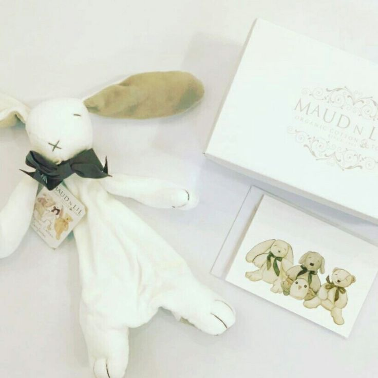 The perfect baby gift. Organic luxury Bunny Comforter,  comes gift boxed with a complimentary card. Great as a baby shower gift idea. Find yours at www.maudnlil.com.au ❤️🐰