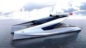 JFA Yachts and Peugeot team up on futuristic 35m power catamaran concept | Boat International