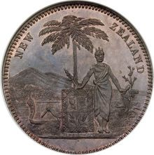 New Zealand, New Zealand: Milner  Thompson (Christchurch) Penny token,...