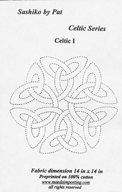 Celtic knot design 2; Could use as a tin punch pattern.