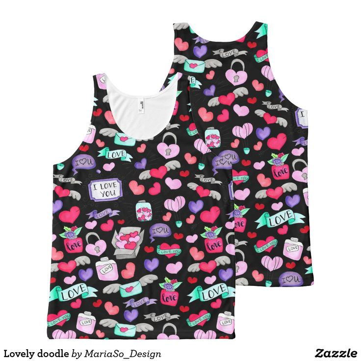 Lovely doodle All-Over-Print tank top