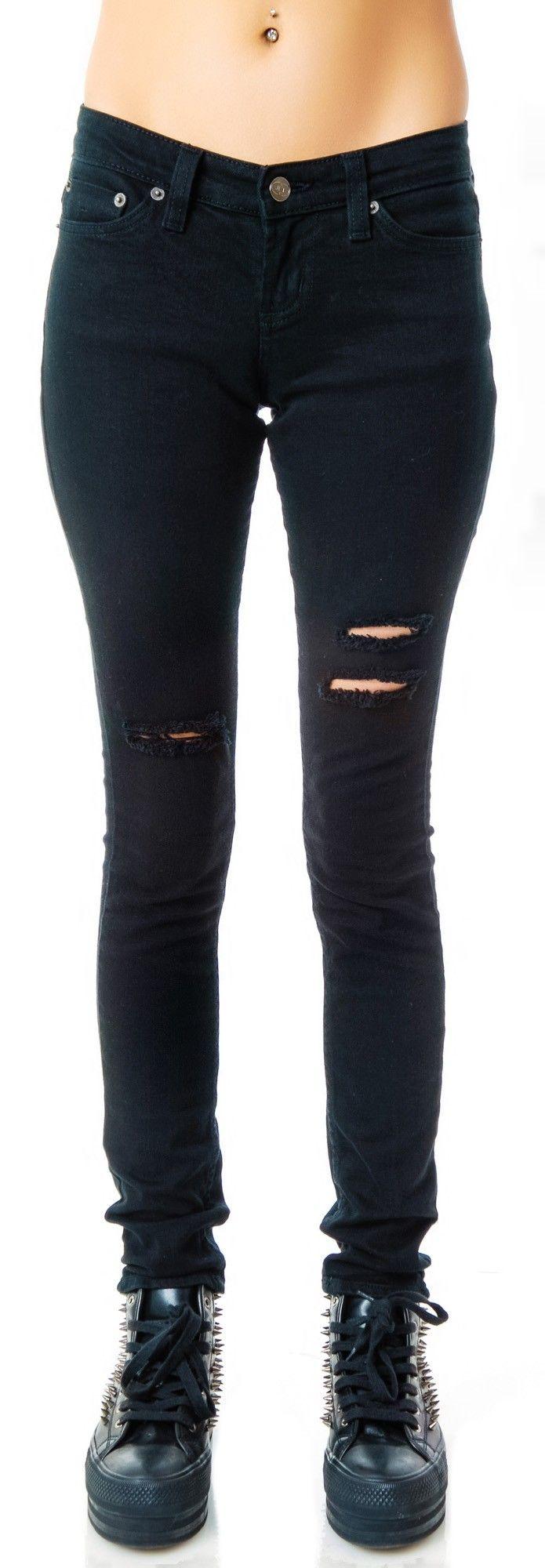 Pants Black Ripped Skinny Jeans