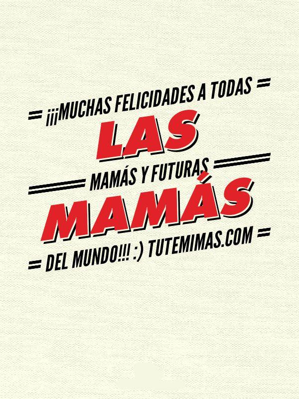 Buenos días Mundo!! #FelizSabado!! Mañana es el Día de la Madre y en tutemimas.com queremos adelantarnos felicitando a todas las mamás y futuras mamás del Mundo ¡¡ por vosotras!! que valéis oro☺ ¡¡¡¡Felicidades!!!!