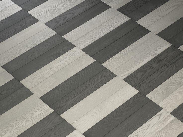 Hakwood flooring - Pattern - Offset Pattern - Mineral - Fossil