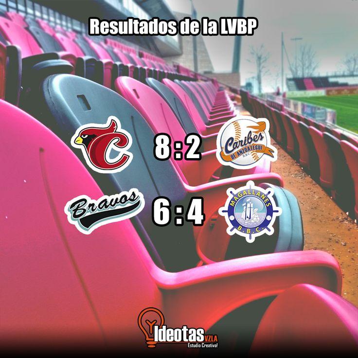 Estos son los resultados de ayer de la #LVBP #ideotasinformando. #somosideotas #diseño #grafico #diseñografico #ideotas #design #graphic #graphicdesign #estudio #creativo #venezuela #hechoenvenezuela #nice #latino #stateunited #events #moda #beisbol #resultados