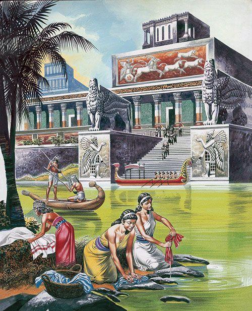 """Nineveh era una antigua ciudad asiria de  mesopotamia superior , ubicada en las afueras de mosul en el norte de Irak moderno . Esta ciudad transcurrió a partir del año 612ac y se """" extinguieron """" a partir de guerras civiles y saqueos"""