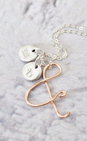 You & Me 14K Rose Gold Ampersand Necklace