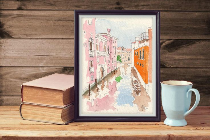 A canal in Venice #watercolor #venice #italy #art