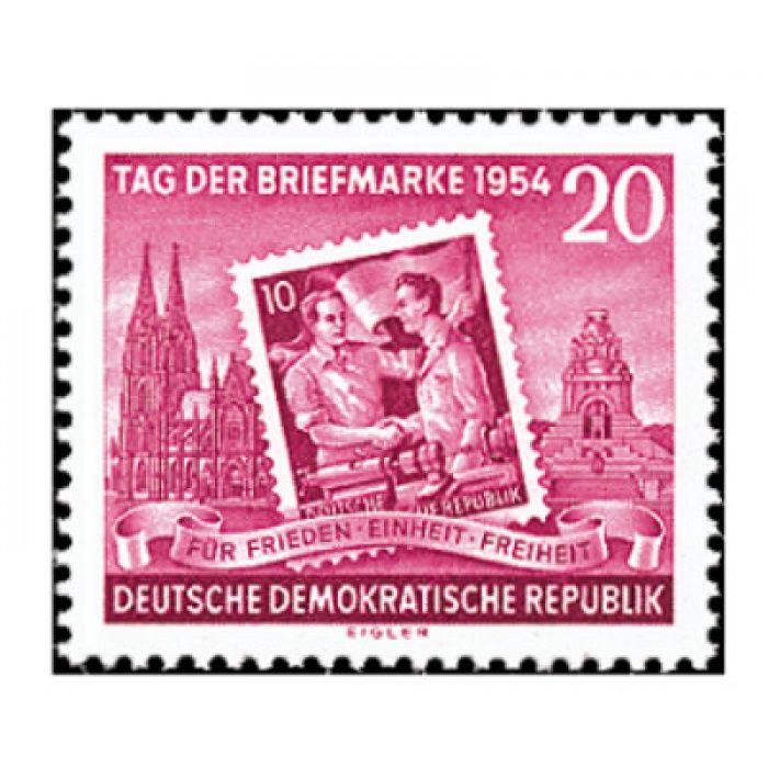 Tag der Briefmarke 1954 - Briefmarke postfrisch, Katalog-Nr. 445AX, DDR